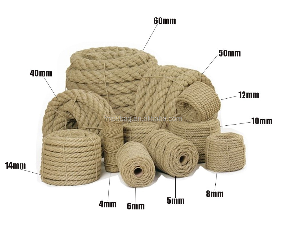 china supplier natural raw jute 80mm rope for sale