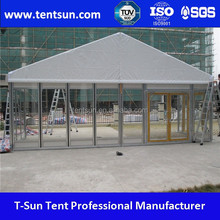 10x10m luxury outdoor glass wall wedding party event tent for sale