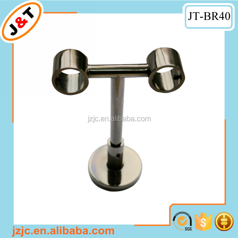Ceiling mounted curtain pole brackets