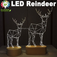 New design deer model led table light, led christmas decorations with 2 years warrany