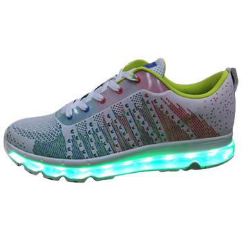 Youth fashion led fluorescent night running shoes