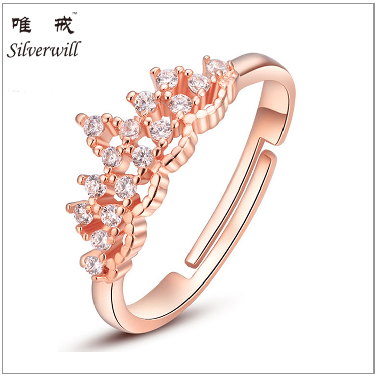 2016 latest 925 silver gold rings designs for women
