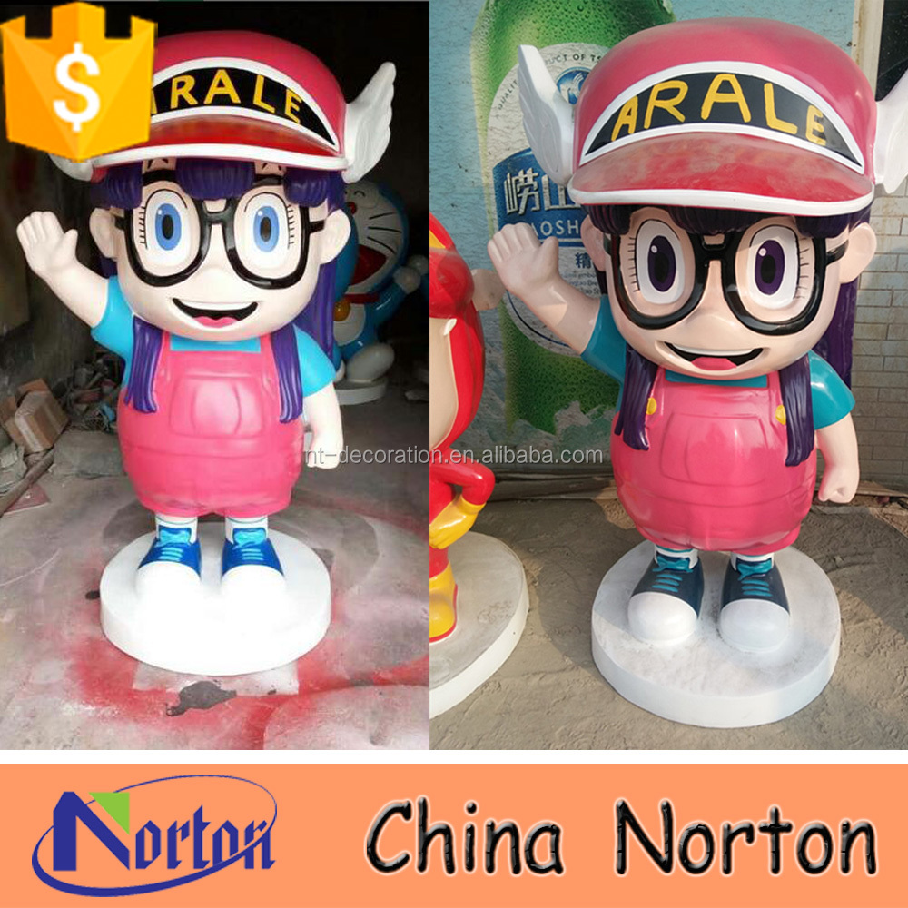 sexy cartoon girl movie painting outdoor resin statues NTRS543S