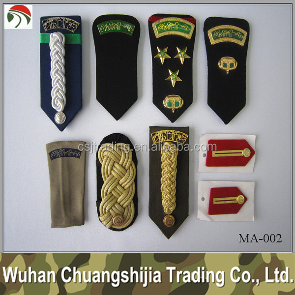 Military epaulette shoulder boards