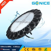 Fast delivery industrial warehouse supermarket 100w 120w 180w industrial led high bay Ufo Led High Bay Light