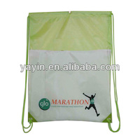 Waterproof drawstring back pack/nylon drawstring bag