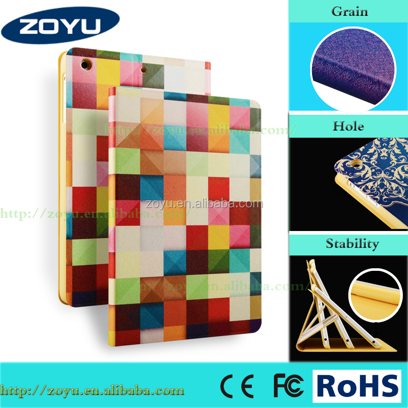 2017 Zoyu design Popular Dynamic Grid Pattern case for Ipad mini1/2/3