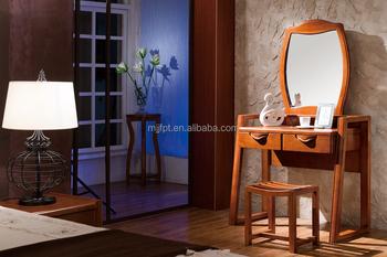 Modern solid wood bedroom furniture dressing table with chair design 8190