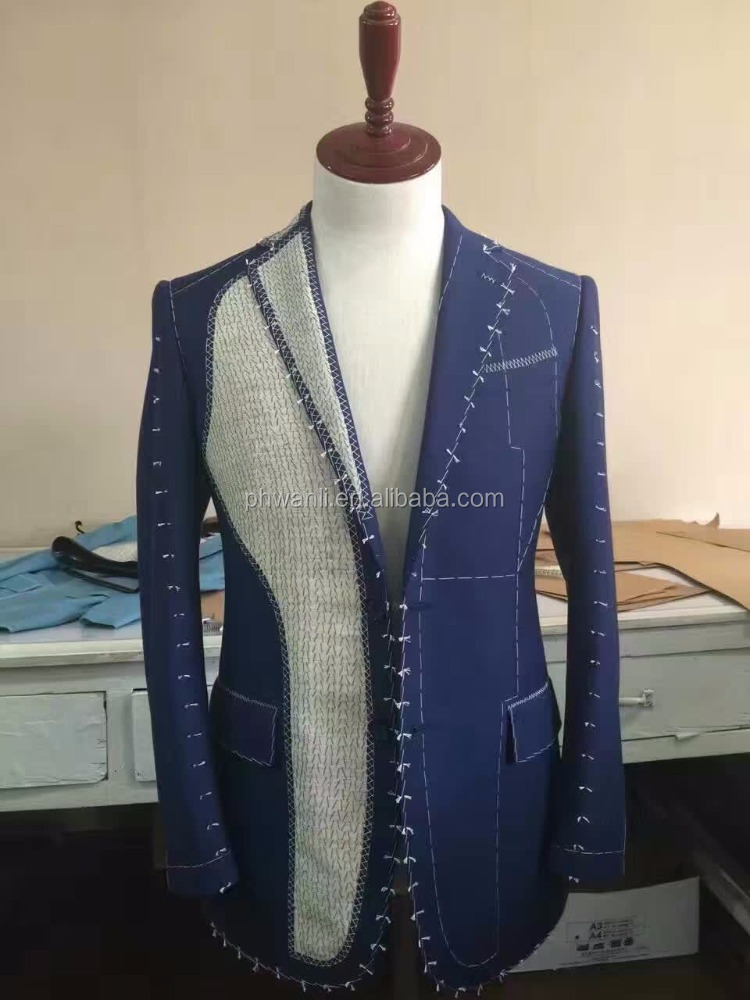New style custom tailored royal blue coat pant tuxedo suits 2016
