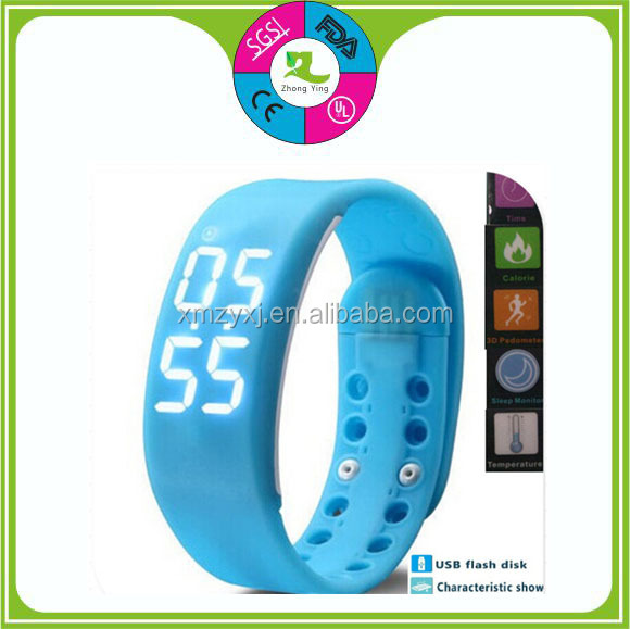 Colorful Smart Band Silicone Wrist Band watch 3D pedometer Smart Watch