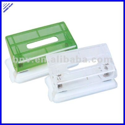transparent clear plastic durable 2 hole Paper Punch