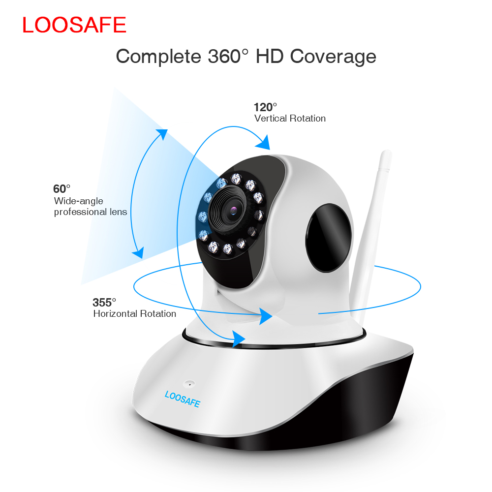 New design compressed storage 200w pixels onvif h.265 ip camera wireless p2p spy camera