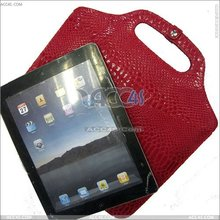 Hot products 2014 new snake pattern handbag stand Leather tablet case for ipad 2 case