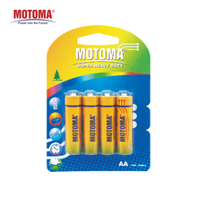 MOTOMA super heavy duty battery 1.5v carbon zinc AA battery R6 battery for toys