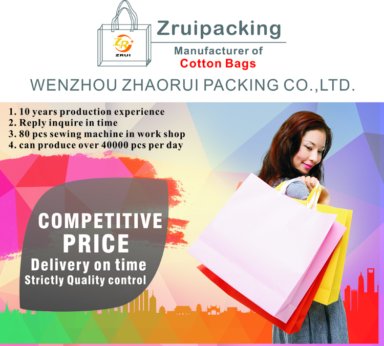 Durable Polyester fashion cotton bags in many style