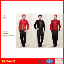 Stylish High Quality Custom Size Fashion Staff Bellboy Uniform For Hotel