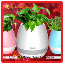 [UPO] Wholesale Smart LED lamp Plant Pot Music Flower Pot With Bluetooth Speaker