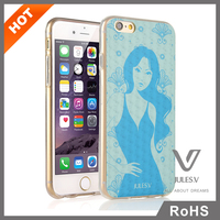 wholesale waterproof fancy lady custom 3d sublimation cell cheap phone cases for i6plus