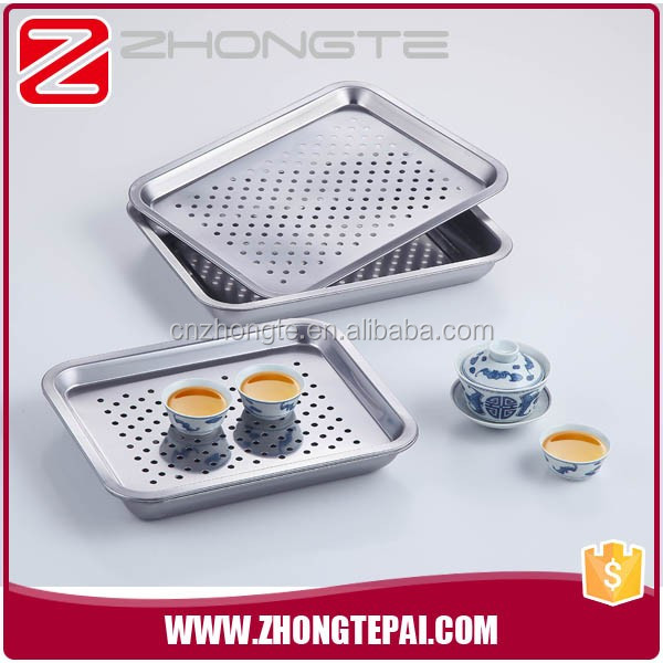 chinese tea set tray and serving perforated tray