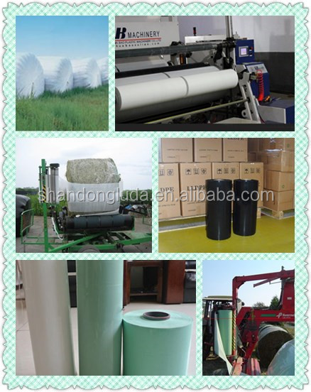 cheap price 500mm 750mm width silage wrap for agriculture stretch film , siglage stretch film