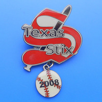 baseball trading pin,soft enamel baseball pin with baseball dangler, mini baseball charms lapel pin