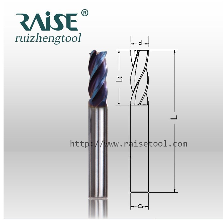 Metric milling cutters tools mill end mill cutter