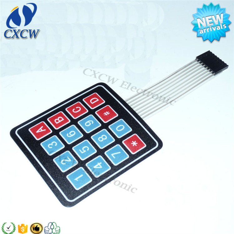 Electronic component Membrane 4 * 4 matrix MCU extended keyboard