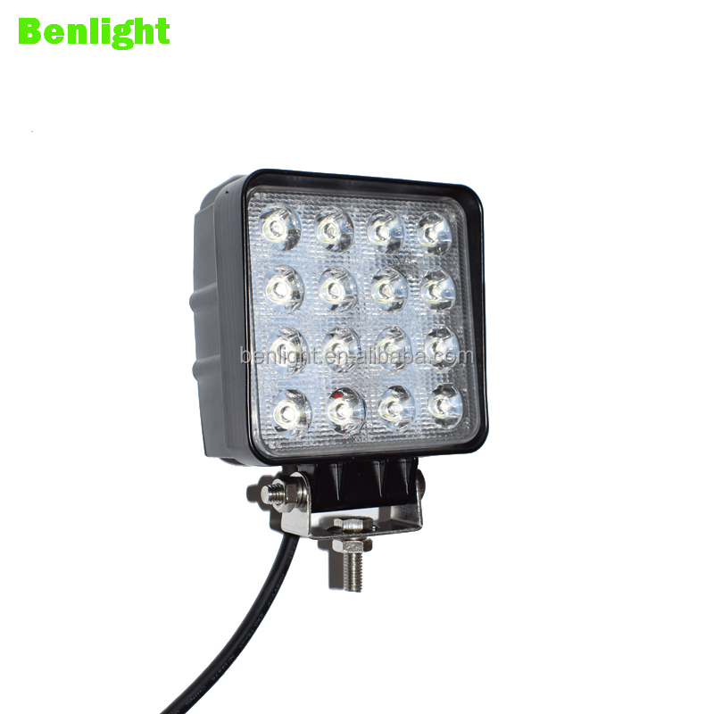Factory direct sell 48W Auto Engineering Lamp Offroad LED Driving Lamping 12V 24V Tractor Mine SUV Vehicle Lights