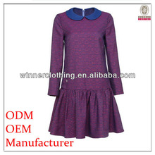Lady fashion casual dress ready made garments manufacturers