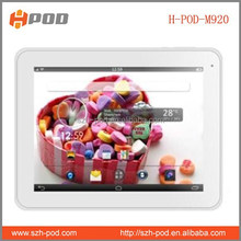 most cheap android 9.7 inch tablet pc allwinner a31s quad core cortex a7 1.2ghzx4 bluetooth hdmi output