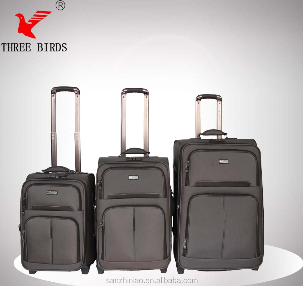 High quality DOT Fabric luggage with spinner wheel luggage