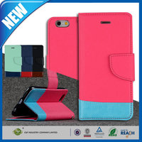 C&T 2015 New design custom sublimation for iphone6 plus leather flip case with credit card slots