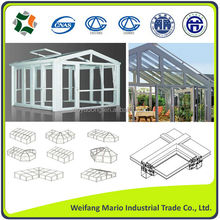 high quality aluminium profiles for greenhouse and conservatory