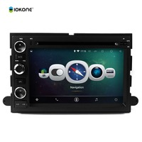 Android 4.4 pure 3g wifi double din car dvd player gps software car gps for Ford Focus F150 2006-2009