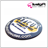 2D Logo Raised up Round shape Customized Soft PVC Coaster for promotion