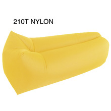 210T Nylon 210D polyester Colorful light weight inflatable air chair sofa bed lounger