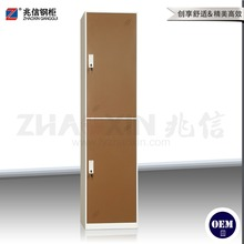 Dressing room cabinet locker 2 doors stainless steel cabinet with mirror