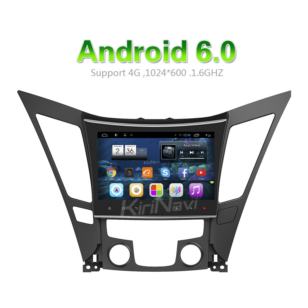 "KiriNavi WC-HS9811 Android 6.0 9"" car radio gps for hyundai sonata radio 2009 - 2015 Wifi 3G"