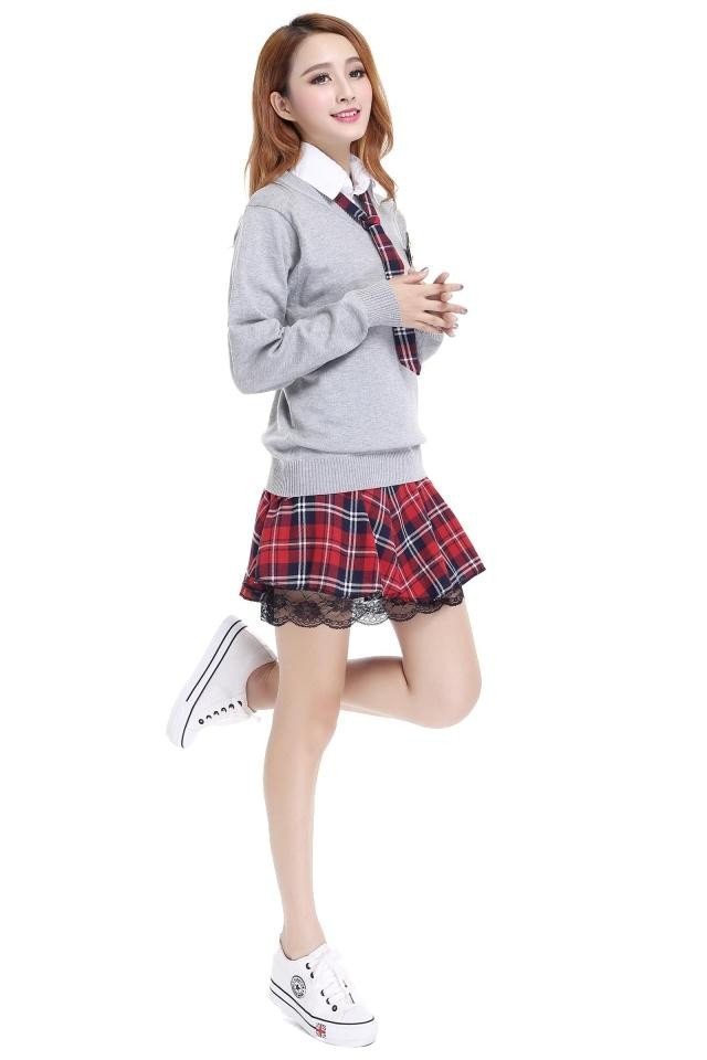 2017 Wholesale Girls Polo T-Shirt Shorts Skirt Primary Summer School Uniform Design Good Quality With Cheap Price