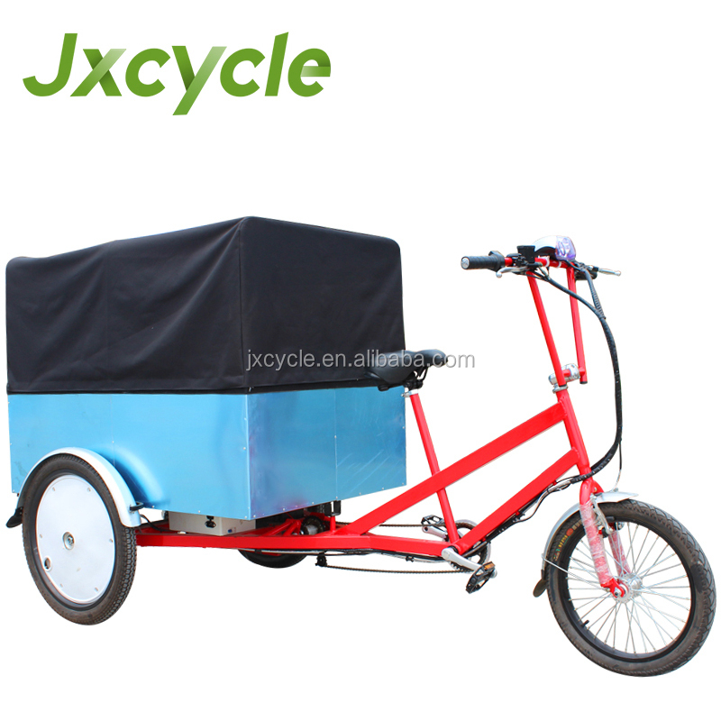 behind box cargo tricycle to carry goods