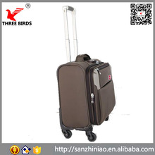 "China wholesale 15"" business travel luggage computer trolley cabin bag supplier"