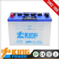 12V Dry charged car battery 70ah