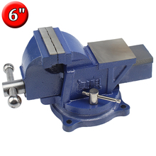 6-Inch Swivel Bench Vise for Woodworking Metal Work Assembly Repair (Mounting Screws Included)