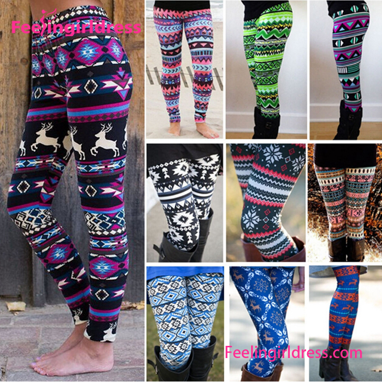 2017 Wholesale Custom Printed Women Regular leggings 92 poly 8 spandex