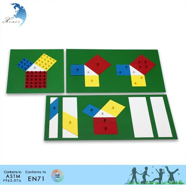 Nurschool school educational metal puzzle Montessori materials toys for kids