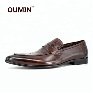 best selling Italian leather shoes men loafers