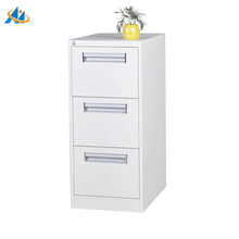 Hot sale aluminum alloy buckle 3 drawers metal file cabinet