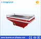 Supermarket Seafood Fish Glacial Table Open Fish Display Cabinet For Freezer