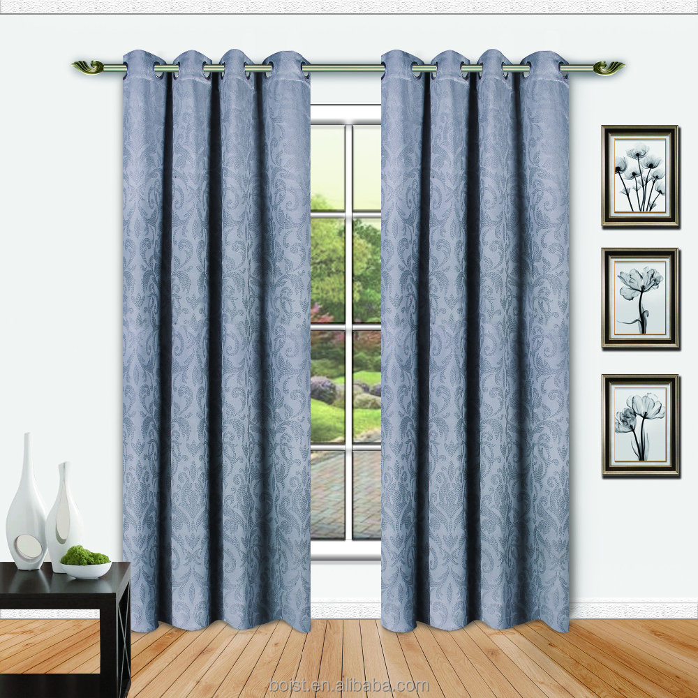 Latest 100% Polyester Jacquard window curtain
