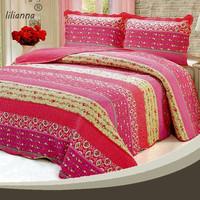 wholesale indian kantha satin patchwork quilt production line